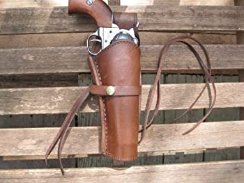 Shotgun Lilli Western Gun Holster - Brown - Right Handed - for .45 Caliber Single Action Revolver - Size 6  - Smooth Leather