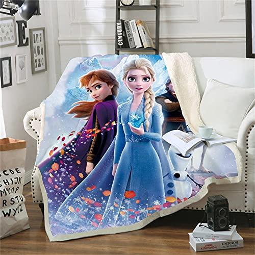 DDONVG Frozen Decke AnnaUndELSA Decke Kuscheldecke Flanell Kinder 3D-Digitaldruck Sonic Fleecedecke,Sofadecke Für Kinder Jugendliche (150x200cm,3)