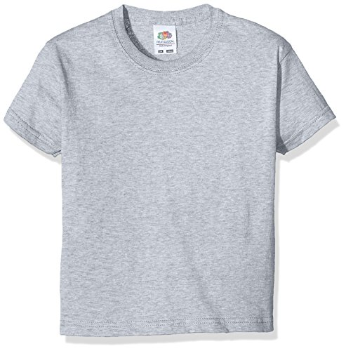 Fruit of the Loom Jungen SS132B T-Shirt, Grey (Heather), 3-4 Jahre