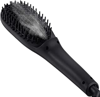 スチームストレートヘアコームヘアカーラー ストレートヘアスプリントヘアストレートブラシ ヘアアイロン ストレートブラシ ストレートストレート櫛 ヘアブラシ ヘアストレート美髪ケア 髪に優しい 火傷防止