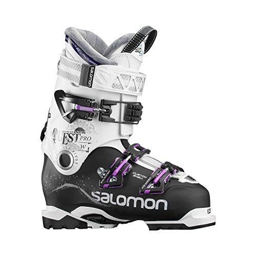 SALOMON Damen Quest Pro CS 90 Skistiefel, Schwarz/Weiß/Lila, 24.5