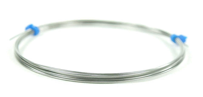 Niobium Wire, 21 Gauge AWG (21ga/.029 inch/.7366mm diameter), 5 Feet (60 Inches/1.524 Meters minimum) Coil (Natural - Unanodized) Unannealed