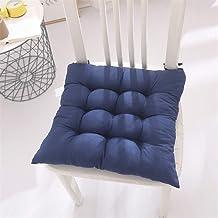 Set van 2 zitkussens Stoelkussens,zacht 45x45cm,tuinstoelkussen,zitkussen voor tuin,balkon,bureaustoel(donkerblauw)