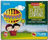 Camel Plastic Crayons - Multi Color, 16 Shades