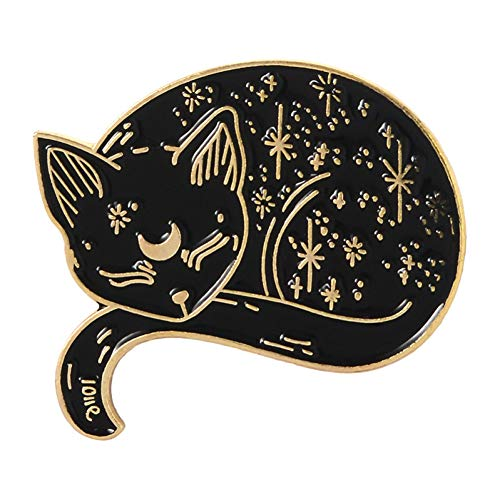 HYLIWI Brosche Witch Cat Pins Sailor Moon Luna Black Cat Brooches Sleeping Cat Badges Witches Jewelrybadges