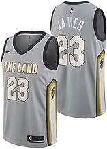 Nike Lebron James Cleveland Cavaliers City Edition Silver Swingman Jersey - Men's Medium