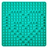 YEAHPY Big Size Push Pop 256 Bubble Fidget Toy, Super Jumbo Green pop, 12 inch Giant Squeeze Silicone Sensory Toys for Kids and Adults Stress Reliever (12 inch Square Green)