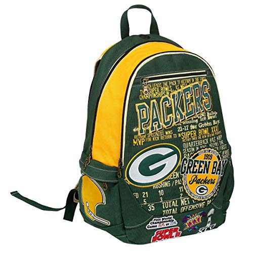 FOCO Green Bay Packers Historic Art Rucksack, Version 2