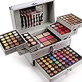 BrilliantDay 132 color paleta de sombra de ojos Blush Corrector Kit Belleza brillo de labios maquillaje Set