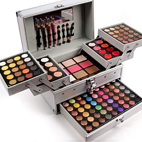 BrilliantDay set palette 132 colori per makeup cosmetici professionali, include rossetto correttore ombretti lucidalabbra fard cipria fondotinta Polvere del sopracciglio
