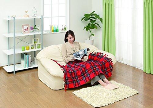 日本製電気ひざ掛けレッド