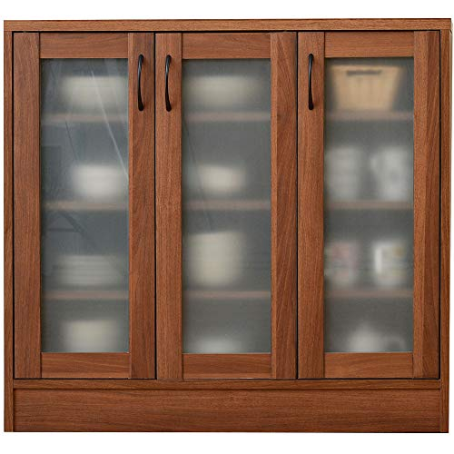 ワイエムワールド 食器棚 ナチュラルキッチン ロータイプ 幅88cm WN 00-012