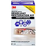 3M Medium Duty Headlight Restoration Kit, Includes Extreme UV...