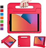 LTROP New iPad 8th Generation Case 2020, iPad 10.2 Case, iPad 7th Generation Case for Kids - Shockproof Light Weight Handle Stand Kids Case for 10.2 inch iPad 8th Gen 2020/ 7th Gen 2019/ Air 3, Red