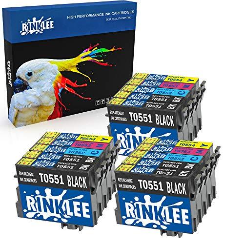 RINKLEE 15 Kompatible T0556 T0551-T0554 Druckerpatronen Ersatz für Epson Stylus Photo R240 R245 RX400 RX420 RX425 RX430 RX450 RX520