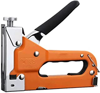 WX Multifunction Staple Gun, 3-in-1 Manual Hammer Tacker with 600 Metal Staples for Wood, Doors, Furniture, Decoration, Fixing Materials, Advertising Boards