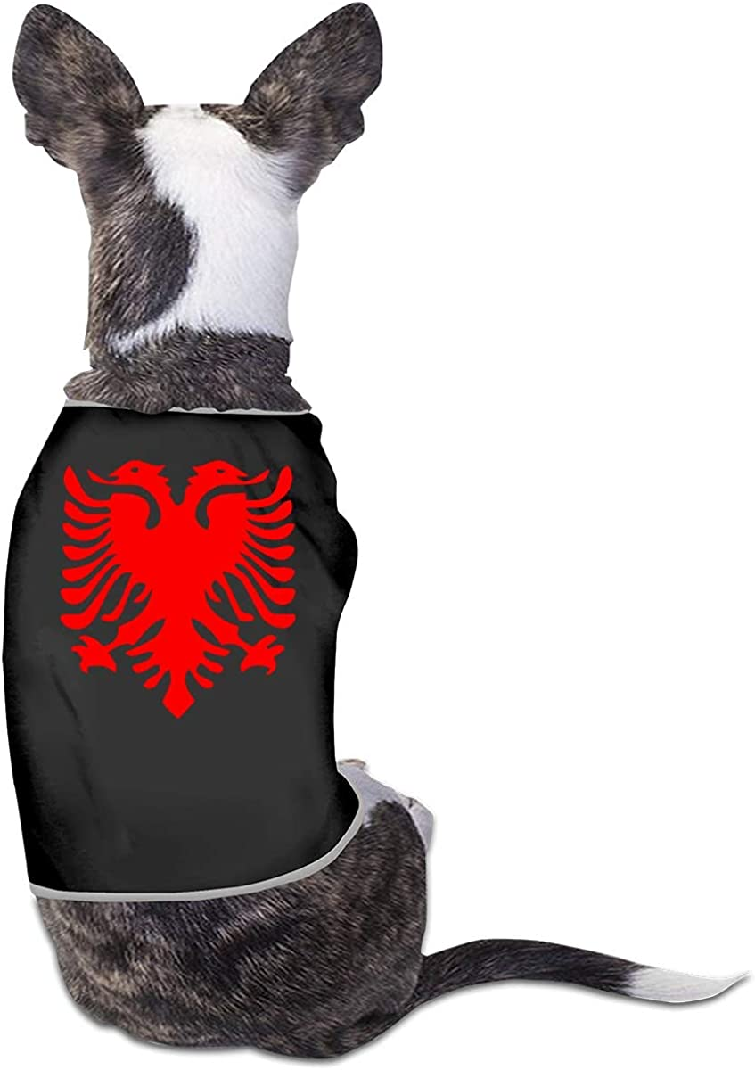 Albanian Flag All stores are sold Small Dog Cat Pet Shirt Sleeveless Clothes Black New Shipping Free