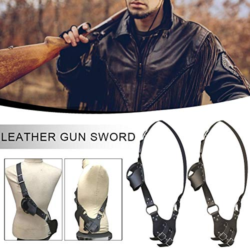 For Sale! Sword Belt Leather Gun Holder Sword Sword for Cosplay Adjustable Size Leather General Purp...