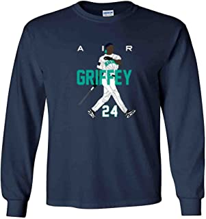 The Silo Long Sleeve Navy Ken Griffey Jr Seattle Air HR New T-Shirt