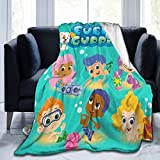 Dserc Bubble Guppies Blanket Ultra Soft Throw Flannel Blanket Warm Fuzzy Blanket for Bed Couch Chair Living Room 50'x40'