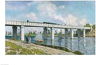 Posterazzi Railway Bridge at Argenteuil 1873 Poster Print by Claude Monet (24 x 18)