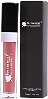 Ferrarucci Matte Long Lasting Lip Gloss - FLC08 Brown, 7ml