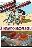 Hookah Charcoal 60 Tablets,40MM Hookah Nargila Coals for Shisha Smoking-Instant Light Coals 3 Rolls,...