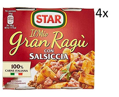 4x Il mio Gran ragu Star salsiccia tomatensauce 2x 180g sauce mit Würst
