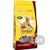 Friskies Juego 6 Gato Croccantini kg 2Manzo Pollo Verd. Comida para Gatos