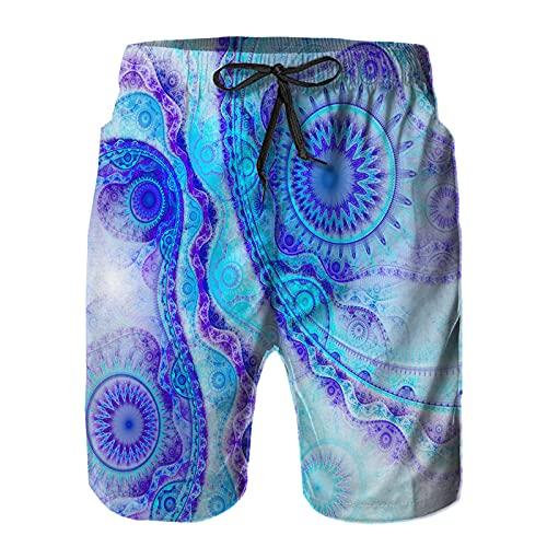 ZHIMI Pantalones Cortos De Playa para Hombres,Conjunto de libélula Aislado sobre Fondo Blanco,Pantalones De Chándal De Secado Rápido, Bañador De Verano para Ejercicios Al Aire Libre