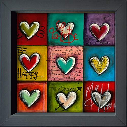 International Graphics - Postal enmarcada - Carine, Mougin - ''Coeurs en Couleurs...