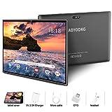 Tablette Tactile 10.1 Pouces , 4G LTE Call Tablet PC Android 9.0 Go Google Certifié GMS , 3Go RAM + 32Go ROM ,Quad Core ,8000mAh Batterie,5MP +8MP, WiFi /GPS /OTG/ Bluetooth Tablettes (Gris)