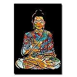 Chifang Bunte Drachentätowierung Buddha Zazen Religion