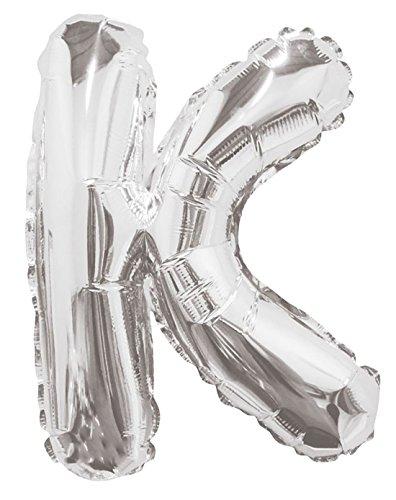 21FASHION - Globo de helio con letras de la A a la Z para decoración de cumpleaños, aniversario, letra de plata K