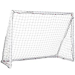 Ultrasport unisex soccer goal, weatherproof goal, suitable for children and adults, easy assembly thanks to plug-in system, including pegs for secure floor fastening, robust and weatherproof
