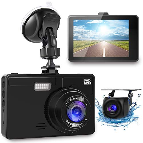 OIIEE Dual Dash Cam 1080P FHD Front and Rear Car Camera, Driving Recorder with Night...
