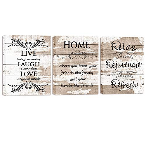 Visual Art Decor Sweet Home Love Life Quotes On Rustic Brown And Beige Wood Textured Background Canvas Prints Wall Art Buy Online In Dominica At Dominica Desertcart Com Productid 180266537