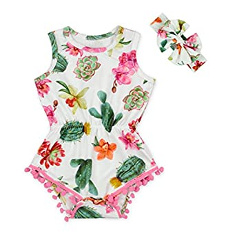 KaiCran Baby Layette Sets Baby Boys Girls Toddler Sleeveless Green Watermelon Print Romper Jumpsuit Fruit Outfit