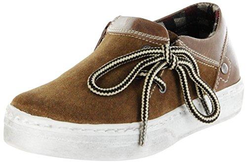 Bergheimer Trachtenschuhe Sneaker Halbschuhe braun Leder Kinder Schuhe Zell, Farbe:braun, Größe:27 EU