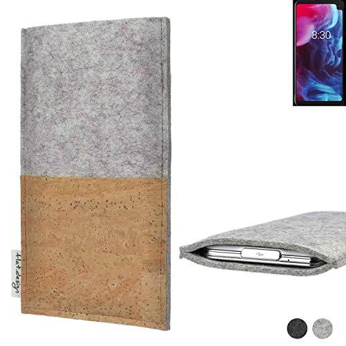 flat.design Handy Tasche Evora für Archos Oxygen 63XL handgefertigte Handy Hülle Kork Filz Hülle fair Kartenfach