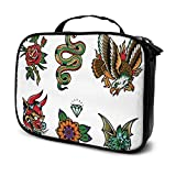 Popular Traditional Tattoo Flash Travel Big Cosmetic Bag Mens Toiletry Bag Makeup Organizer Case Multifunction Printed Pouch For Women