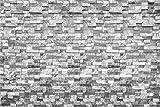 Fondo de Pared de ladrillo Irregular Mable Vinilo Recién Construido Textura Lisa Pared Fotografía Fondo Eatery Decoración Papel Pintado áspero Retrato de Adultos Disparar Sesión de fotos-5x3 pies
