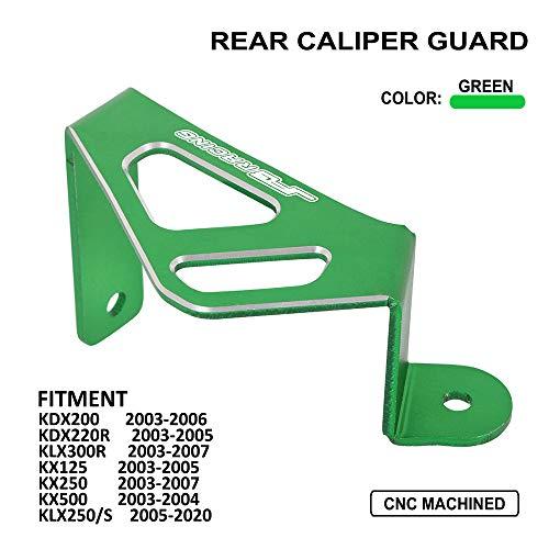 Motorcycle Rear Caliper Guard CNC Fits for Kawasaki KDX200 2003-2006 KDX220R 2003-2005 KLX300R 2003-2007 KX125 2003-2005 KX250 2003-2007 KX500 2003-2004 KLX250/S 2005-2020