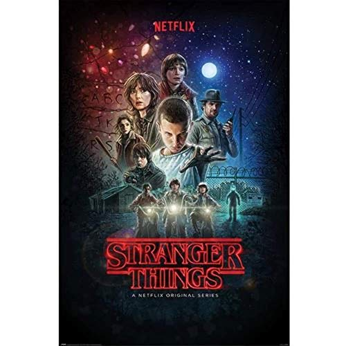 Pyramid International Poster Stranger Things One Sheet, Non stratifié, Multicolore, 91, 5x61cm