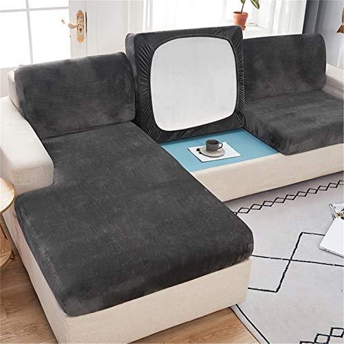 RAILONCH Sofa Sitzkissenbezug, Stretch Sitzkissenschutz, Elastischer Kissenbezüge,Husse Überzug Bezug Für Sofa Sitzkissen,Couch (Dunkelgrau,2 Sitzer)