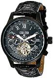 Burgmeister Man Malabo, Reloj automático para hombre, correa de cuero, Negro