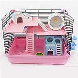 CSWO Hamster Cage Package Goldener Bärenkäfig Animal Habitat Tragbarer Test