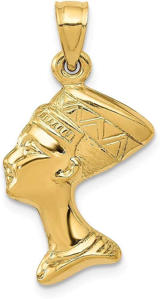14K Yellow Gold 3-D Nefertiti Pendant