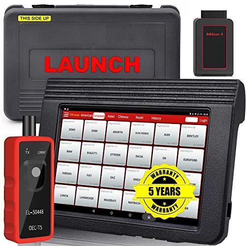LAUNCH X431 V PRO Bi-Directional Scan Tool Full System OBD2 Scanner IMMO(Key Program),ECU Coding, 20 Reset, Matching, Remote Diagnostic, Print Health Report, Free Update,Full Set - EL-50448 Gift