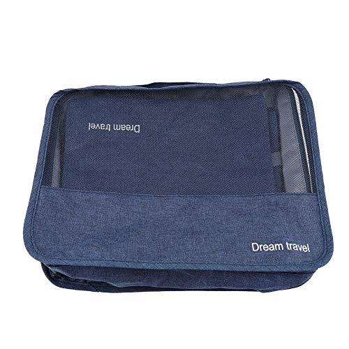 7PCS Storage Bags Cubes Set Compression Luggage Suitcase Organizer Suitcase Organizer (Green)